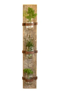 Mason Jar Herbs, Mason Jars, Herb Planters, Planter Pots, Barn Wood, Ladder Decor, Indoor, Rustic, Kitchen