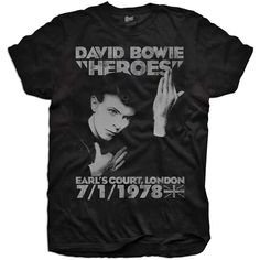 David Bowie Youth's Tee: Heroes Earls Court Wholesale Ref:BOWTS06Y