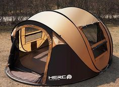 Automatic Korean pop up large family tent 5-8 Person