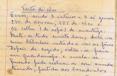 As Receitas da Avó Helena e da Avó Eduarda: Torta de Côco - outra receita