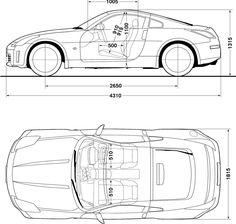 Nissan 350Z blueprint