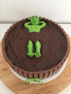 Shrek taart