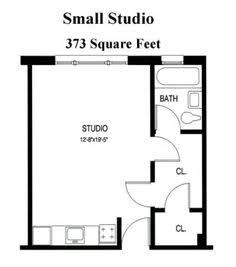 Apartments Efficiency Floor Plan   Floorplans   Pinterest   Studio ...