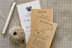 DIY Wedding Invitation Suite with information and directions cards