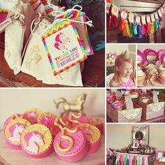We are absolutely obsessed with this Magical Rainbow Unicorn Party by Gretchen of Three Little Monkeys Studio! P.S. Aren't those toppers by Love & Sugar Kisses amazing!? http://hwtm.me/11CSor3 #Rainbow #Unicorn #Party