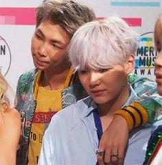 BTS   RM and SUGA x AMAs