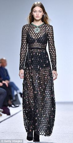 Back in black: It was no surprise to see Gigi Hadid ruling the runway when she made a show...