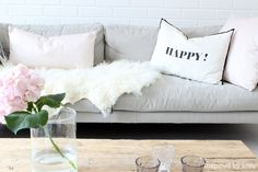 Add a little typography in accessories to add personality to your space