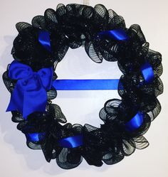 Thin blue line wreath to support the men and women in blue.