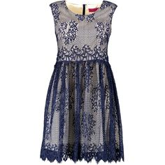 Boohoo Iris All Over Lace Skater Dress ($20) ❤ liked on Polyvore