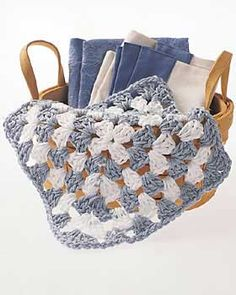 Christmas Crafts, Free Knitting Patterns, Free Crochet Patterns and More from FaveCrafts.com Granny Square Dish Cloth