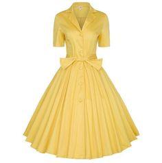 Xs-4Xl Women Retro Lapel Short Sleeve Bowknot Mid-Calf Tutu Dress Party  Sundress 87817ea19090