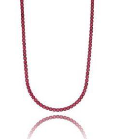 colar riviera luxo rubi com banho de rodio negro semi joias finas