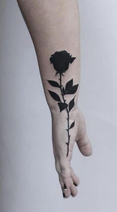 Feed Your Ink Addiction With 50 Of The Most Beautiful Rose Tattoo Designs For Men And Women - KickAss Things - beautiful black rose tattoo © tattoo by Hostel Tattoo Studio 🌹💟🌹💟🌹💟 - Hand Tattoos, Tattoos Masculinas, Neue Tattoos, Trendy Tattoos, Finger Tattoos, Body Art Tattoos, Small Tattoos, Tattoos For Guys, Wrist Tattoos For Men