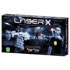Laser X is a Real Life Laser Gaming Experience. Set includes everything you need for 2 Laser X players. Two Player Games, Team Games, Tween Boy Gifts, Red Team, Good Buddy, 7 Year Olds, Sound Effects, Your Turn, Toys