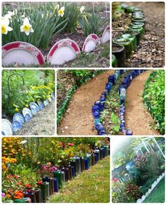 60 Flower Bed Edging Ideas 60 Flower Bed Edging Ideas 60 Flower Bed Edging Ideas – Hoselink<br> Almost every idea you can think of and a few more, to inspire you to create a wonderful garden edge! Flower Garden Borders, Flower Bed Edging, Small Flower Gardens, Flower Beds, Diy Flower, Flower Bed Decor, Unique Flowers, Small Flowers, Border Edging Ideas