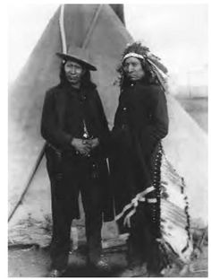 In the early to mid-1860s, the Oglala chief Red Cloud (Makhpiya-luta), pictured on the right in 1891, led and ultimately won a brutal and protracted fight to force the U.S. government to close the Bozeman Road through the Powder River country, the last great hunting ground of the Lakota.