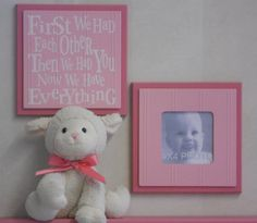 Pink Baby Girl Nursery Wall Decor Set of 2 Photo by NelsonsGifts