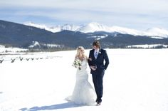 Jill + Evan | Snowy Colorado Wedding | Rocky Mountain Bride :: Calluna Events Wedding | Devil's Thumb Ranch | Winter Wedding
