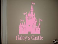 """For Zoey's room Size: 25"""" W x 36"""" H vinyl castle decal."""