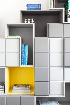 armários criados pelos arquitetos Carolina Mauro, Daniela Frugiuele e Filipe Troncon, do Suite Arquitetos.