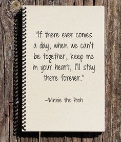 Winnie the Pooh Journal Winnie the Pooh by CulturalBindings # winnie the pooh Quotes Winnie the Pooh Journal - Winnie the Pooh Notebook - Winnie the Pooh - Memories Book - I'll Stay in Your Heart - Keep me in Your Heart Bff Quotes, Care Quotes, Best Friend Quotes, Disney Quotes, Best Friend Gifts, Friendship Quotes, Gifts For Friends, Friendaversary Gifts, Boyfriend Gifts