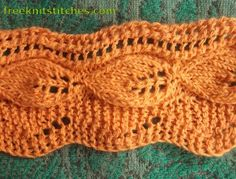 lace knit patterns Leaf fall