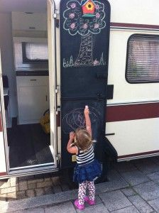colour your #caravan door with chalkboard-paint #caravanity