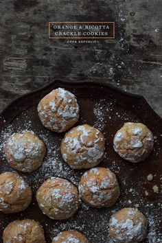 Orange Ricotta Crackle Cookies -