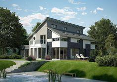 Pultdachhaus FG 104-134 - OKAL Haus. Das Familienhaus PlusFG 104-134 des Anbieters OKAL Haus verfügt neben dem Haupthaus über eine Einliegerwohnung. Diese kann für verschiedene Zwecke verwend