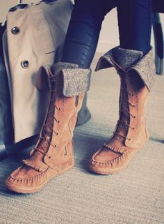 Boho ugg boots, pure leather brown in color