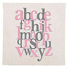 image of Glenna Jean Swizzle Alphabet Wall Art in Pink