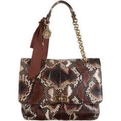Lanvin Handbags - LANVIN Happy MM Printed Python Flap Chain Link NWT