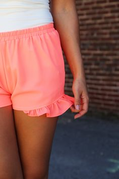 Pretty In Pink Ruffle Shorts