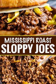 Tangy and savory Mississippi pot roast flavors come together in this quick-cooking sloppy joe recipe! Perfect for a kid-friendly weeknight meal! Tangy and savory Mississippi pot roast flavors come together in this quick-cooking sloppy joe recipe! Quick Hamburger Recipes, Quick Crockpot Meals, Quick Weeknight Meals, Crockpot Recipes, Easy Meals, Crockpot Sloppy Joe Recipe, Beef Meals, Hamburger Crockpot Meals, Ketogenic Diet