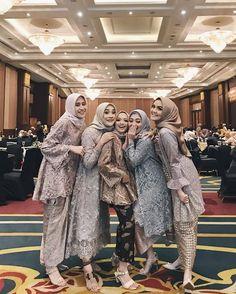 Kebaya Modern Hijab, Model Kebaya Modern, Kebaya Hijab, Kebaya Muslim, Kebaya Lace, Batik Kebaya, Kebaya Dress, Batik Dress, Hijab Dress Party
