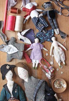 tiny dolls, captain charmley, mister skimpole and other new things – ann wood handmade Tiny Dolls, Soft Dolls, Fabric Dolls, Paper Dolls, Rag Dolls, Cloth Art Dolls, Ann Wood, Sewing Dolls, Doll Tutorial