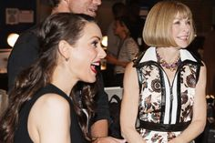 Winona with Anna Wintour, backstage at Fashion Week  http://winonaforever.tumblr.com/image/97759528216