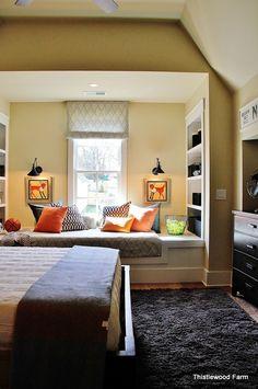 Built-in twin mattress window seat... yes please:)