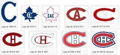L'historique des différents logos du Canadiens de Montréal. Montreal Canadiens, Hockey Mom, Ice Hockey, Nhl, Hockey Party, Team Player, Lululemon Logo, Toronto, Temple