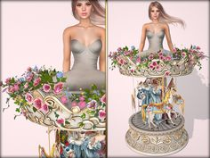 f41274456 Carousel Couture Second Life, Carousel, Strapless Dress Formal, Formal  Dresses, Couture,