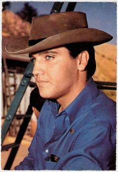 ❤ Elvis, So Very Handsome he Makes The Cowboy Hat Look Good !!