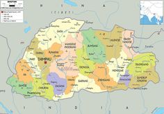 Bhutan Map >>> Pinning because there are so few maps of this country around...