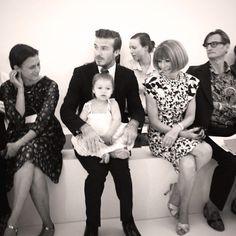 NYFW via @Vogue Magazine instagram - Anna, David and baby Harper!