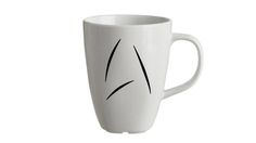 Seen in the latest Star Trek film, Captain Kirk uses this Starfleet issue coffee mug every morning and now you can too!