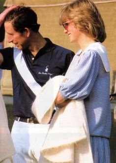May 24, 1984 - Diana and Charles at a polo match at Smith's Lawn, Windsor