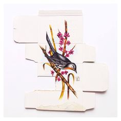 "Artist Sara Landeta (previously) continues to use the back of used medicine packaging as a canvas for depictions of various birds. The artist most recently created a series of 120 paintings for her exhibition titled ""Medicine as Metaphor"" at gallery 6mas1 last year. From the Jealous Cu"