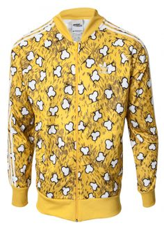 Jeremy Scott including Jeremy Scott for Adidas Unisex Bone Track Jacket Yellow/White Fashion Brands, Luxury Fashion, Jeremy Scott, Pattern Fashion, Knitwear, Track, Women Wear, Adidas, Unisex
