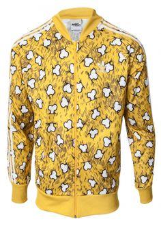 designer fashion c31ff 1f6b2 Jeremy Scott including Jeremy Scott for Adidas Unisex Bone Track Jacket  Yellow White Pop Art