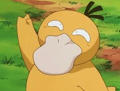 When I was little I loved psyduck and bulbasaur so much!